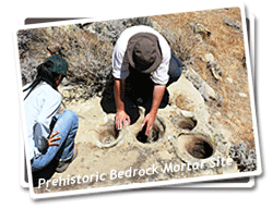 Photo of a Prehistoric Bedrock Mortar Site