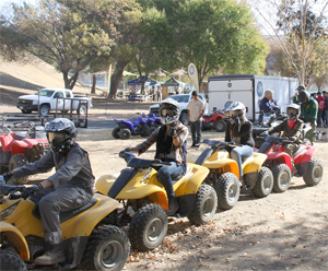 photo of youth on ATVs