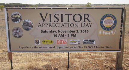 Visitor Appreciation Day Banner