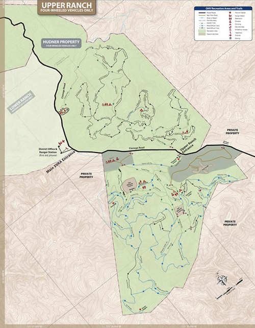 Image of Hollister Hills Upper Ranch Map