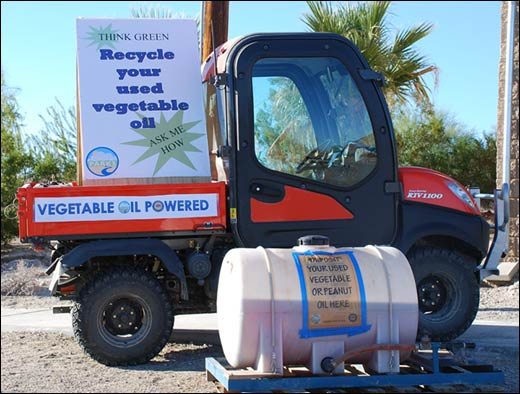 Ocotillo Wells SVRA Kubota Oil Recycling Photo