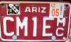 AZ MC Plate with OHV Sticker Image