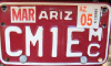 AZ Registration Plate