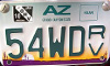 AZ RV Plate with Decal Image