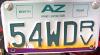AZ RV Plate Image