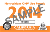 Sample Image of the Nonresident OHV Use Permit