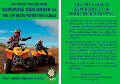Image of ATV Safety Training Card
